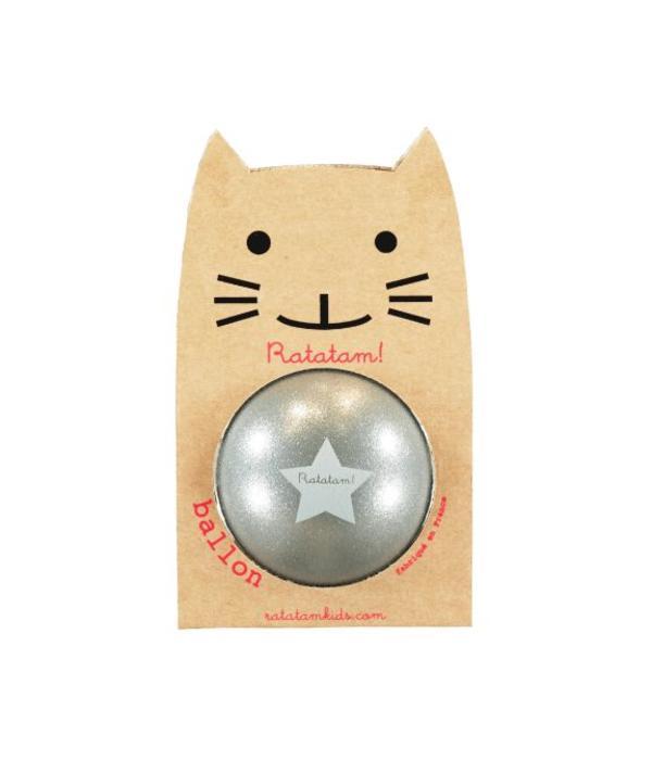 Ratatam glitter ball silver small