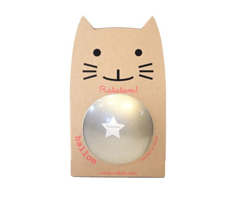 Ratatam glitter ball silver big