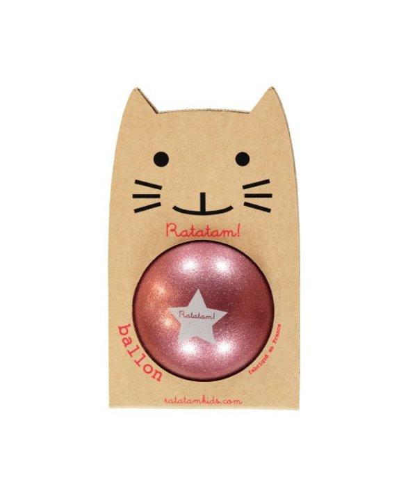 Ratatam glitter ball pink small