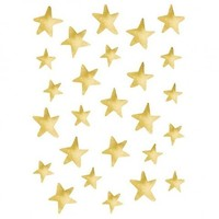 Lilipinso stickers sterretjes goud effect