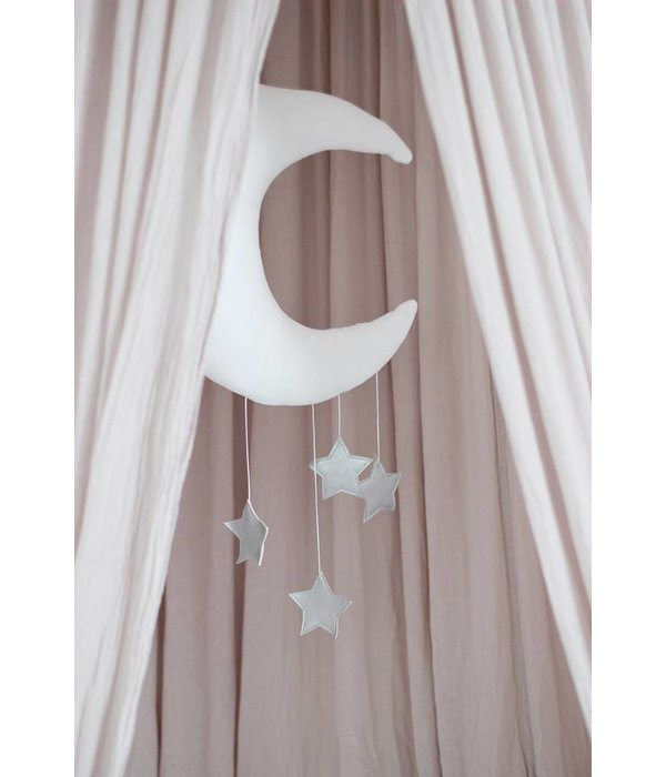 Cotton & Sweets maan mobiel dusty pink - gold stars
