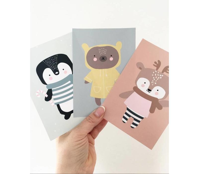 Eef Lillemor Postkarte Winter tragen