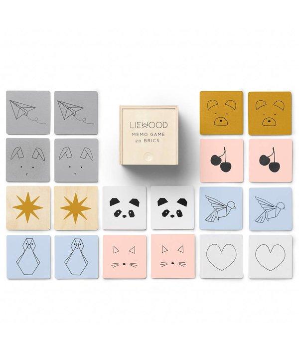 Liewood houten memory game mix