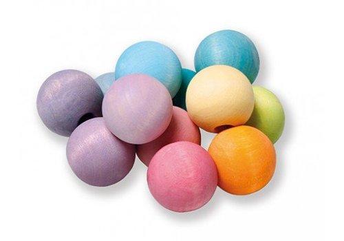 Grimm's Toy's beaded grab rainbow pastel