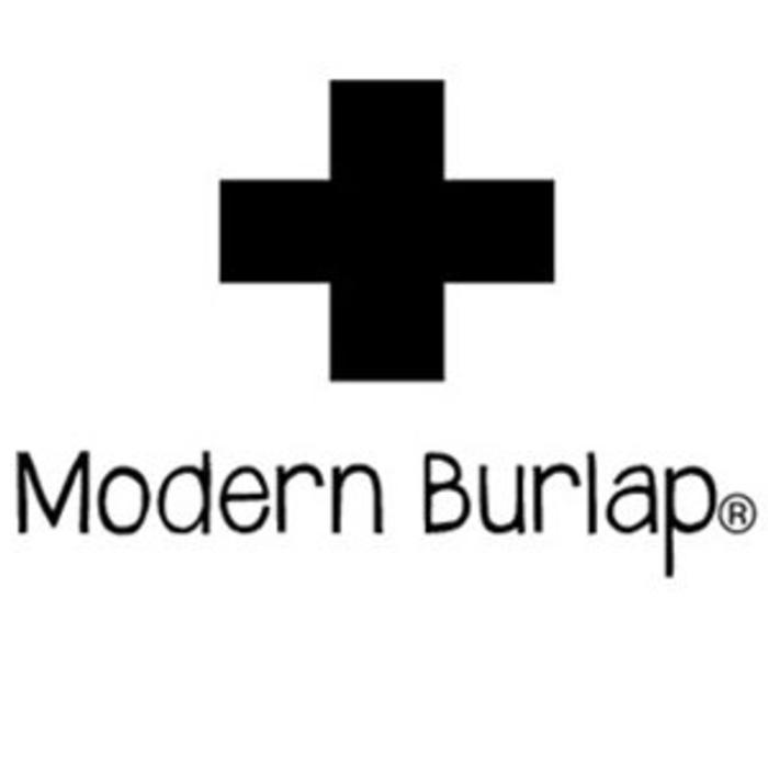 moderner Burlap
