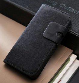 Lederen wallet case iPhone 5/5S zwart