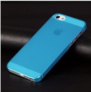 Ultra dunne hard case iPhone 5/5S blauw transparant