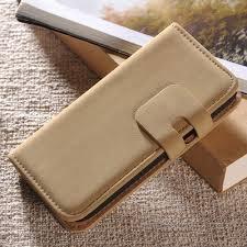 Lederen Wallet Case Samsung S4mini Beige