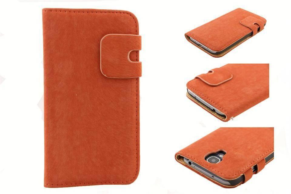 Lederen Wallet Case Samsung S4 Rood