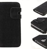 Lederen Wallet Case Samsung S4 Zwart