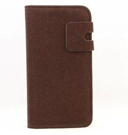 Lederen Wallet Case Samsung S4 Donkerbruin