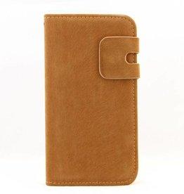 Lederen Wallet Case Samsung S4 Bruin