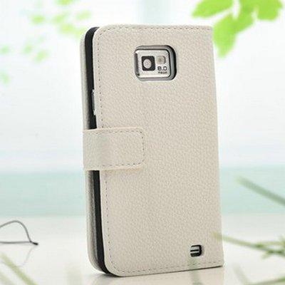 Vintage leren Wallet Case Samsung Galaxy S2 Wit