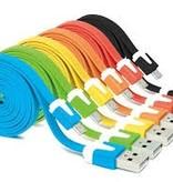 Patte Micro USB kabel 1 meter lichtblauw