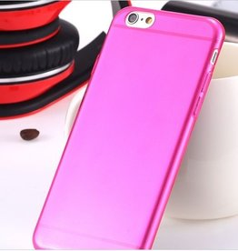 Silicone case iPhone 6 roze
