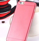 Flexibele Siliconen soft case iPhone 6 rood
