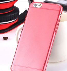 Siliconen case iPhone 6 rood