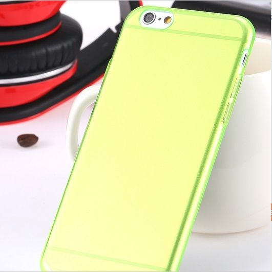 Flexibele Siliconen soft case iPhone 6 groen