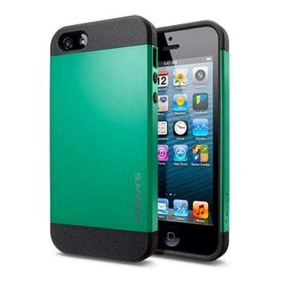 Smart Protector hoesje voor iPhone 5/5S donkergroen