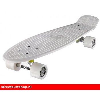 """Ridge Ridge Retro board 27"""" White deck with white wheels"""