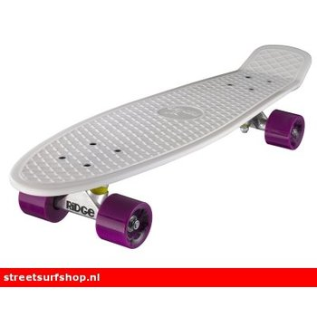 "Ridge Ridge Retro board 27"" White deck with purple wheels"