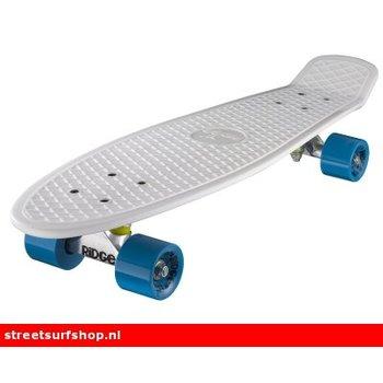 "Ridge Ridge Retro board 27"" White deck with blue wheels"