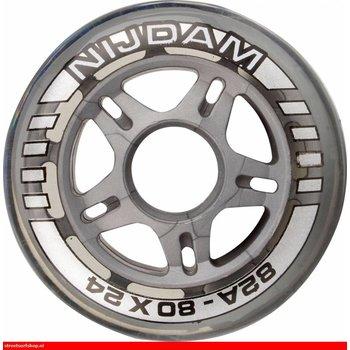 Nijdam Set 4 Räder für Inline-Skates 64 x 24 mm 82A