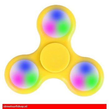 Fidget Fidget Spinner LED geel