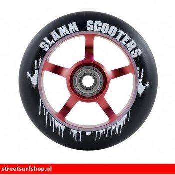 Slamm 5 spaak aluminium core wheel red 100mm