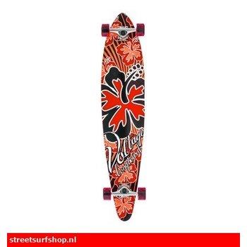 Spannung Rote Hibiskus-Longboard
