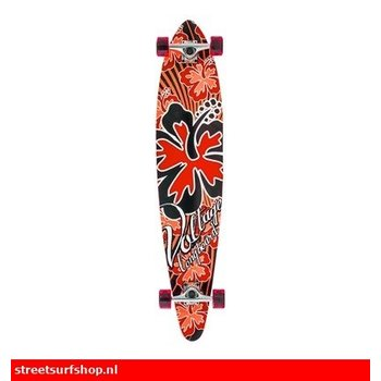 Voltage Voltage Red Hibiscus Longboard
