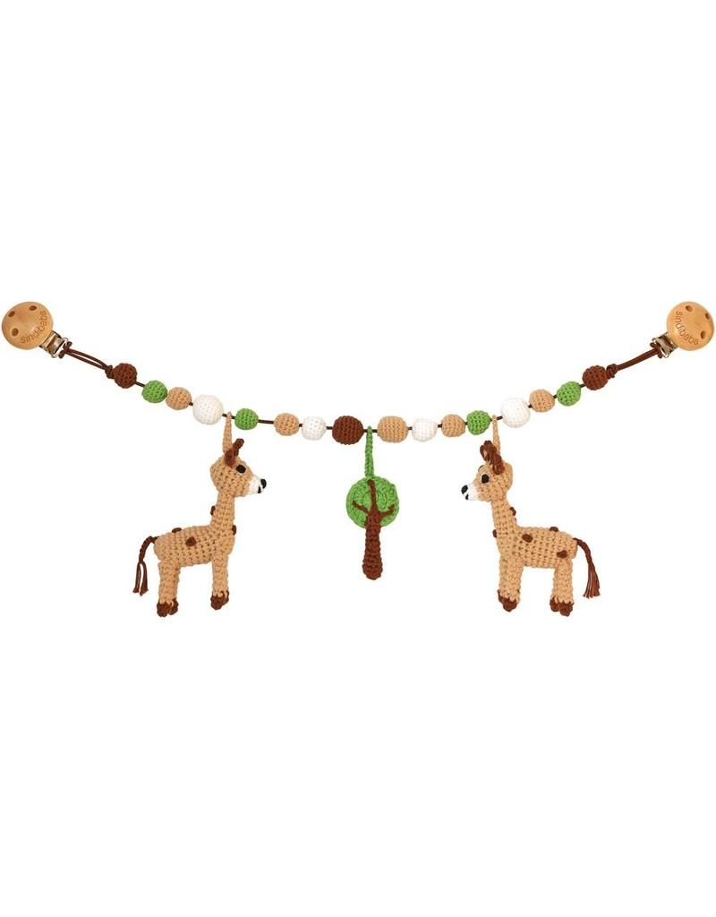 Sindibaba Kinderwagenkette Giraffe