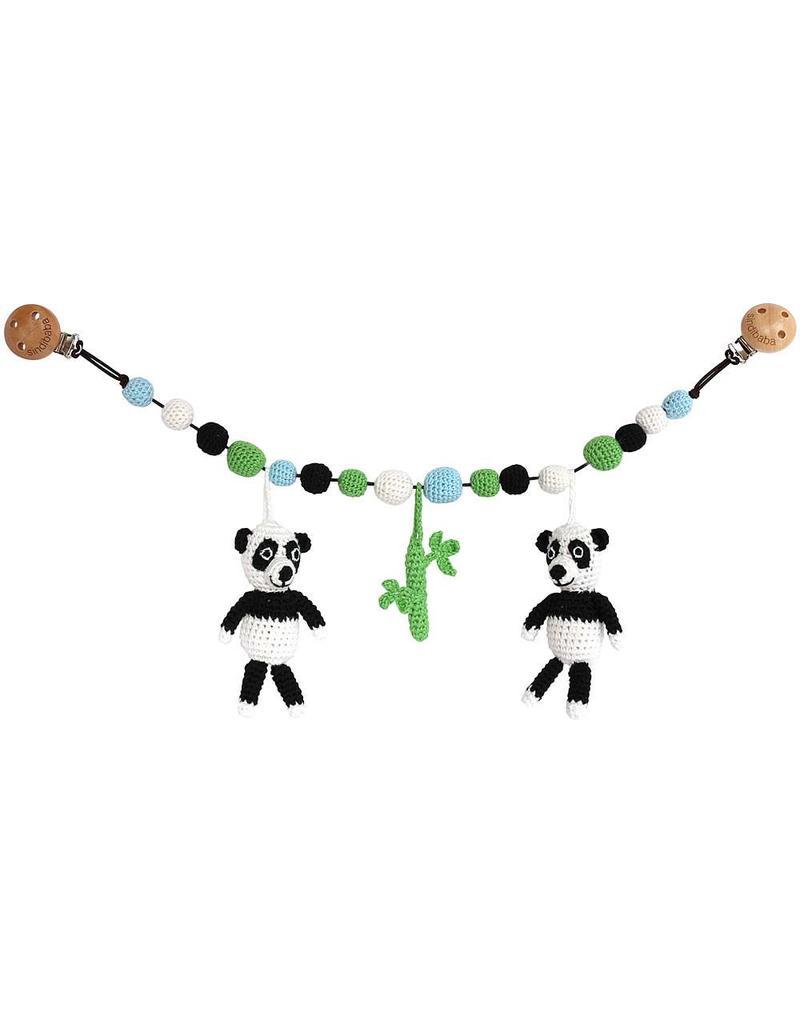 Sindibaba Kinderwagenkette Pandabären