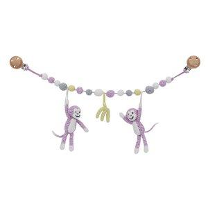 Sindibaba Wagenkette Affen rosa