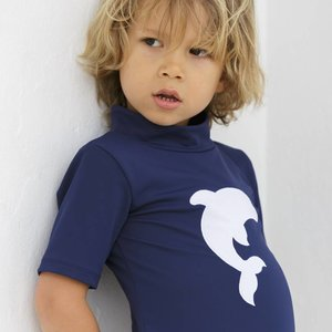 Petit Crabe UV-Shirt Turtle neck blau Delfin 50+