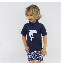 Petit Crabe UV-Shorts blau Delfin 50+