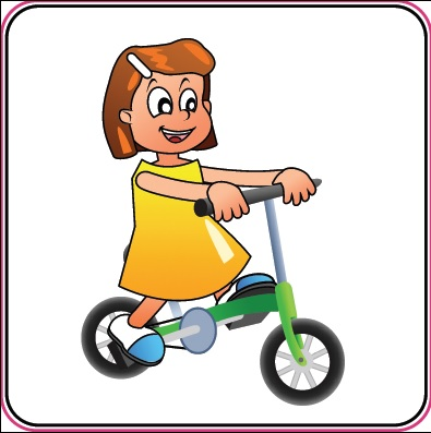 pictogram kind fietsen