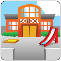 Pictogram Kind School