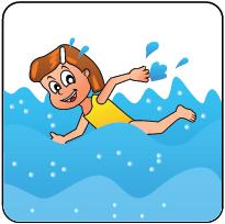 Pictogram Kind Zwemmen