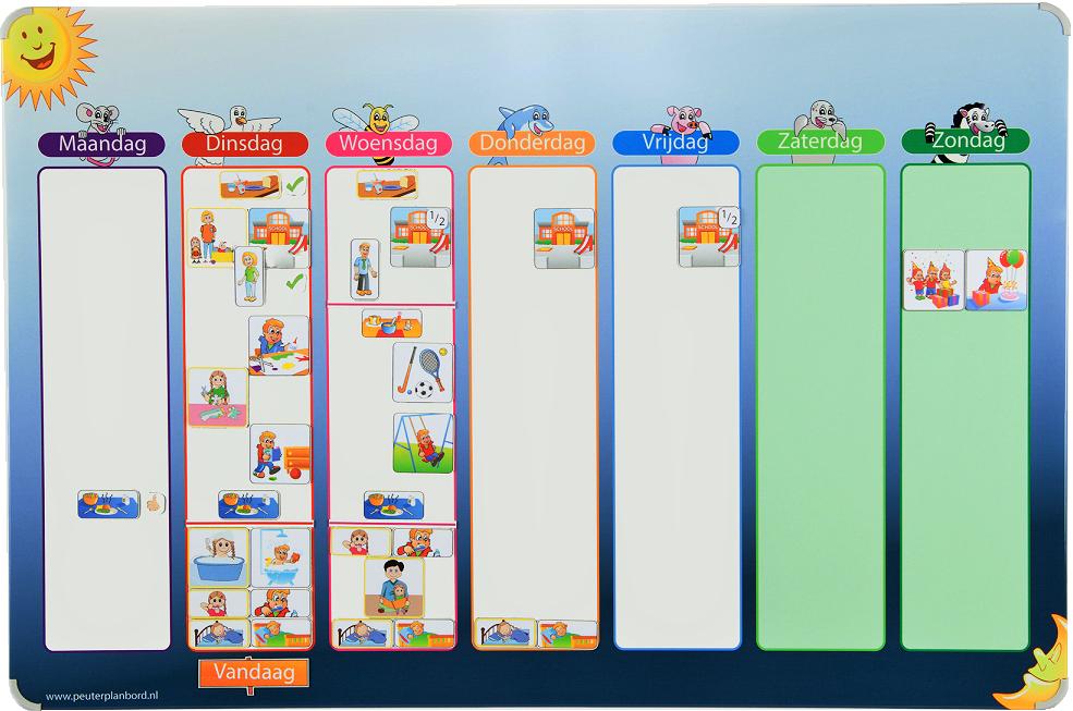 weekplanner planbord voor 2 kinderen