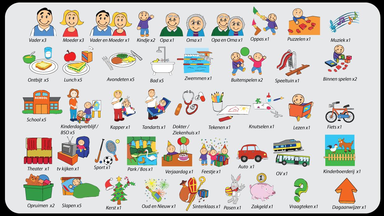 basisset 81 magnetische pictogrammen voor kinderen