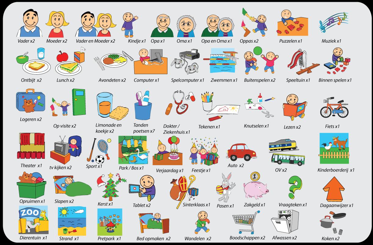 Verrassend Inhoud van de setjes pictogrammen voor kinderen - kinderplanborden.nl QN-13