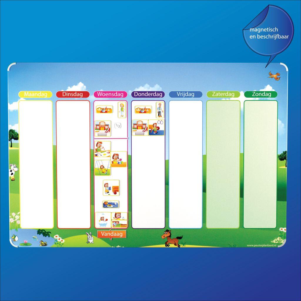 Favoriete Leuk en overzichtelijke magneet weekplanner voor kinderen  VT46