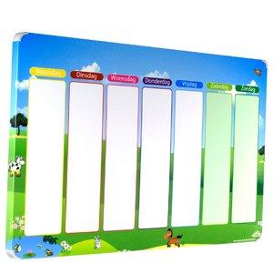 Leuk en overzichtelijke magneet weekplanner voor kinderen - Inrichting van een kamer voor kinderen ...