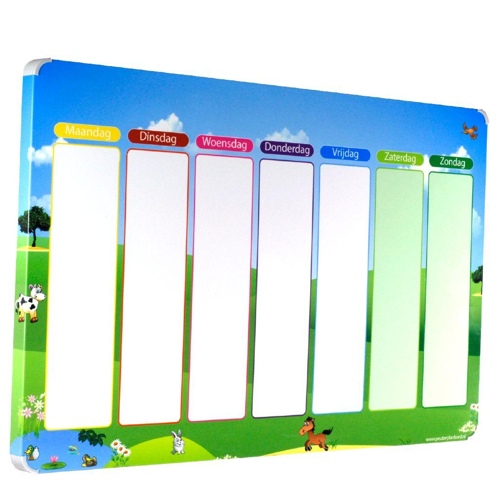 Leuk en overzichtelijke magneet weekplanner voor kinderen - Kamer voor een kind ...