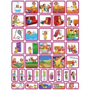 Zonneroosje Dagsetje - 39 pictogrammen (meisje)
