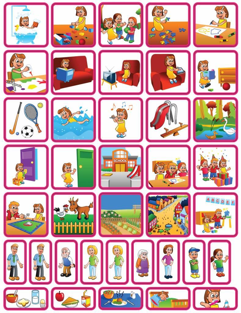 Extreem Dagsetje - 39 magneet pictogrammen ( meisje) - kinderplanborden.nl CT77