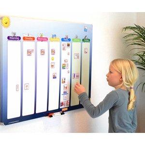 Een groot en overzichtelijk planbord voor uw kind(eren)