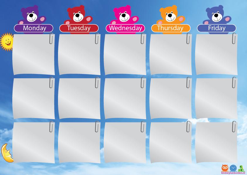 school week planner