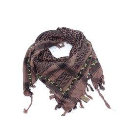 Sjaal Heren bruin/zwart camouflage